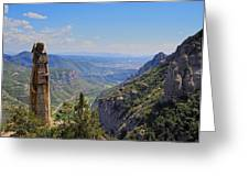View From Montserrat Mountain Greeting Card