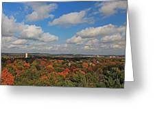 View From Mt Auburn Cemetery Tower Greeting Card