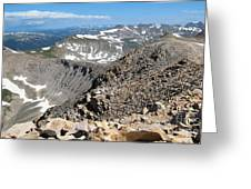 View From Mt Sherman Summit Greeting Card by Claudette Bujold-Poirier