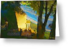 View From My Window On A Summer Afternoon  B-12 Greeting Card