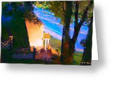 View From My Window On A Summer Afternoon  B-15 Greeting Card