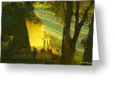 View From My Window On A Summer Afternoon  B-17 Greeting Card