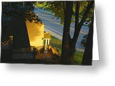 View From My Window On A Summer Afternoon  B-21 Greeting Card