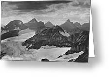 T-303501-bw-view From Quadra Mtn Looking Towards Ten Peaks Greeting Card