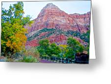 View From South Campground In Zion Np-ut Greeting Card