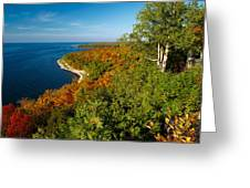 View From Sven's Bluff Greeting Card