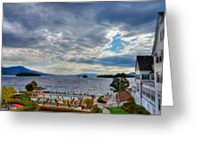 View From The Balcony Suite - Sagamore Resort Greeting Card