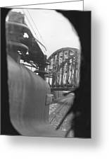 View From The Cab Of A Gg1 Greeting Card