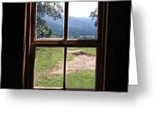 View From The Cabin Greeting Card by Todd Blanchard