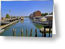 View From The Dock Greeting Card