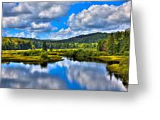 View From The Green Bridge In Old Forge Ny Greeting Card