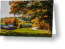 View From The Hill Greeting Card