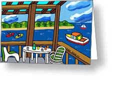 View From The Porch - Cedar Key Greeting Card by Mike Segal