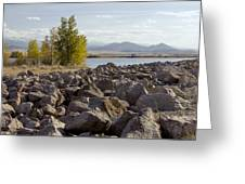 View From The Rocks Greeting Card