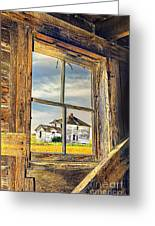 View From The Stable Greeting Card
