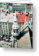 View From The Top Of Munich City Hall Greeting Card