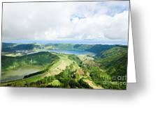 View From The Top Of Sete Cidades Greeting Card