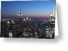 View From The Top Of The Rock Greeting Card by David Yack