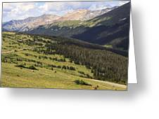 View From The Trail Ridge Road. Greeting Card