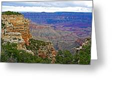 View From Walhalla Overlook On North Rim Of Grand Canyon-arizona  Greeting Card
