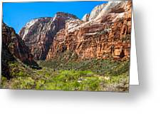 View From Weeping Rock Greeting Card