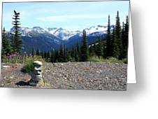view from Whistler mountain Greeting Card