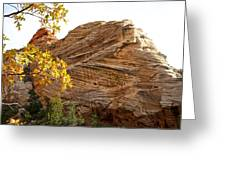 View From Zion-mount Carmel Highway In Zion Np-ut Greeting Card