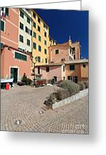 view in Sori Italy Greeting Card