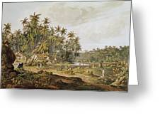 View Near Point Du Galle, Ceylon, Engraved By Daniel Havell 1785-1826 Published In 1809 Coloured Greeting Card
