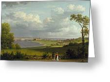 View North Of Kronborg Castle Greeting Card