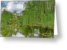 View Of A Botanical Garden, Krakow Greeting Card