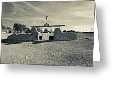 View Of Abandoned Church Gate Greeting Card