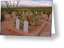 View Of Arizona From Boothill Cemetery Greeting Card