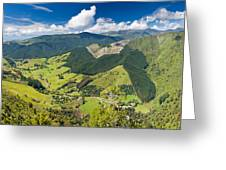 View Of Arthur Range In Kahurangi Np Of New Zealand Greeting Card