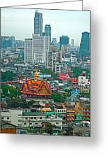 View Of Bangkok Buildings From Grand China Princess Hotel In Bangkok-thail Greeting Card