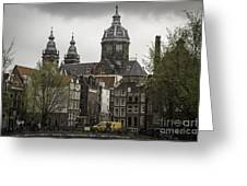 View Of Basilica Of St Nicholas Amsterdam Greeting Card