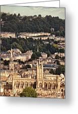 View Of Bath England Greeting Card