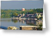 View Of Boathouse Row  Greeting Card