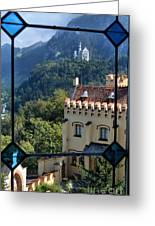 View Of Castles Greeting Card