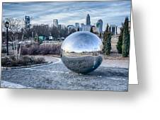 View Of Charlotte Nc Skyline From Midtown Park Greeting Card