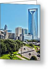 view of Charlotte North Carolina Greeting Card