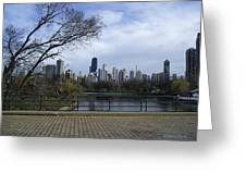 View Of Chicago Greeting Card