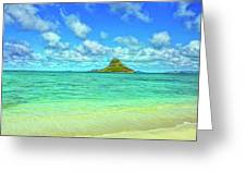 View Of Chinaman's Hat Greeting Card