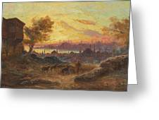 View Of Constantinople Greeting Card
