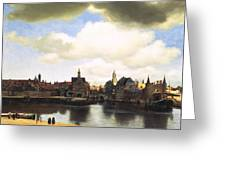 View Of Delft Vermeer Greeting Card