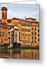 View Of Florence Along The Arno River Greeting Card