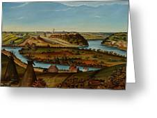 View Of Fort Snelling Greeting Card