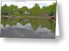 View Of Japanese Garden, Wroclaw, Poland Greeting Card
