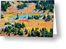 View Of Lake Greeting Card