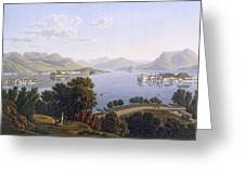 View Of Lake Maggiore And The Borromean Greeting Card